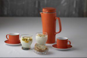 Yoghurt and coffee set
