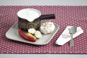 Garlic and yoghurt