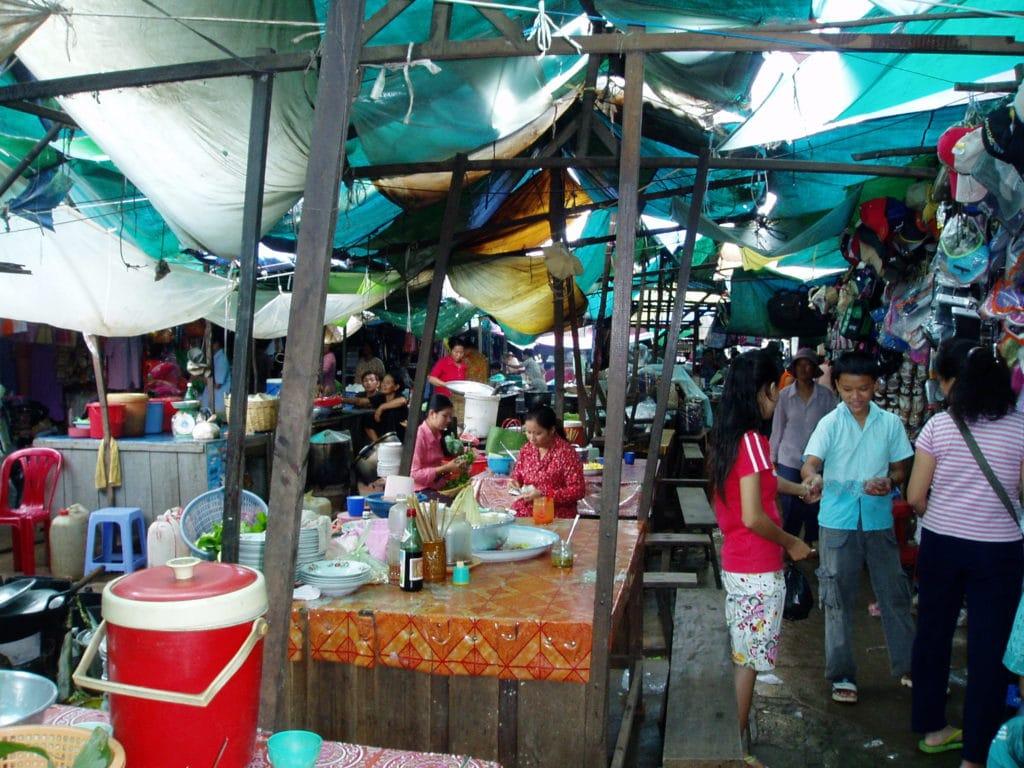 Cambodian street market