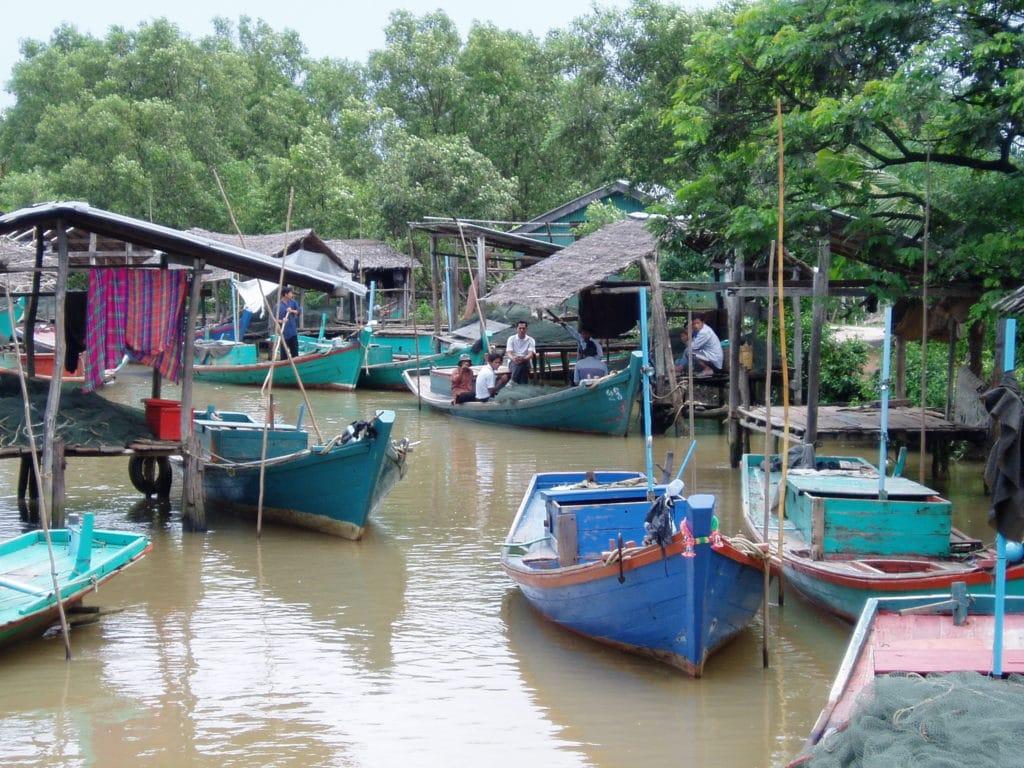 Cambodian river village